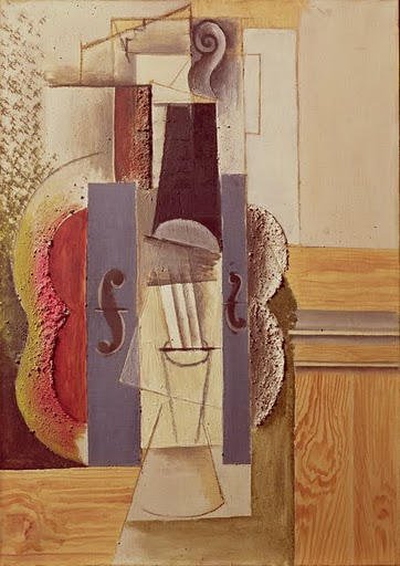 picasso-violinhangingonthewall-painting